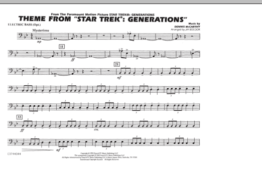Theme from Star Trek: Generations - Electric Bass (Marching Band)