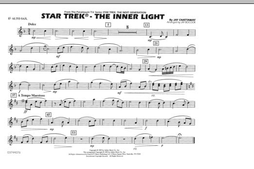 Star Trek - The Inner Light - Eb Alto Sax (Marching Band)
