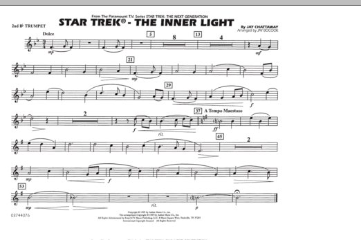 Star Trek - The Inner Light - 2nd Bb Trumpet (Marching Band)