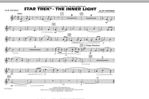 Star Trek - The Inner Light - 3rd Bb Trumpet (Marching Band)