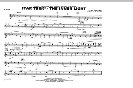 Star Trek - The Inner Light - F Horn (Marching Band)