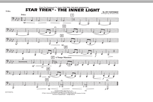Star Trek - The Inner Light - Tuba (Marching Band)