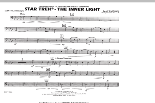Star Trek - The Inner Light - Electric Bass (Marching Band)