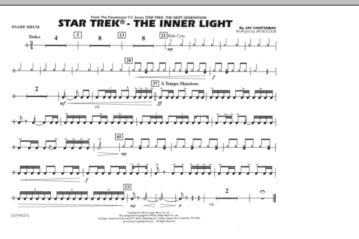 Star Trek - The Inner Light - Snare Drum (Marching Band)