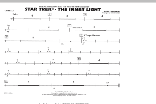 Star Trek - The Inner Light - Cymbals (Marching Band)