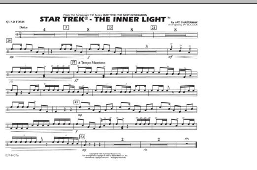Star Trek - The Inner Light - Quad Toms (Marching Band)