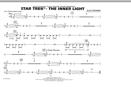 Star Trek - The Inner Light - Aux Percussion (Marching Band)