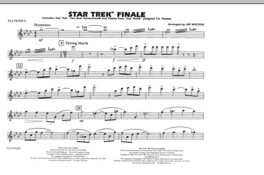 Star Trek Finale - Flute/Piccolo (Marching Band)