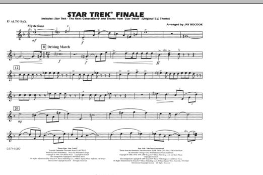 Star Trek Finale - Eb Alto Sax (Marching Band)