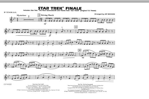 Star Trek Finale - Bb Tenor Sax (Marching Band)