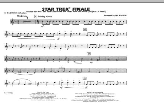 Star Trek Finale - Eb Baritone Sax (Marching Band)