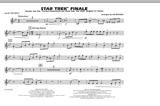 Star Trek Finale - 2nd Bb Trumpet (Marching Band)