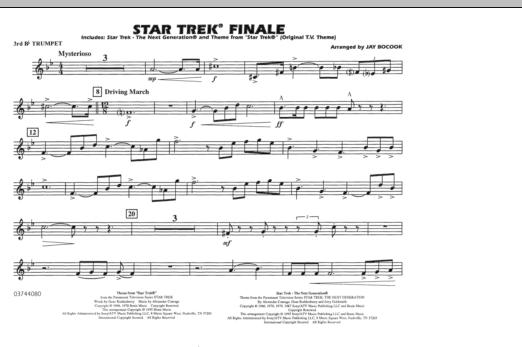Star Trek Finale - 3rd Bb Trumpet (Marching Band)
