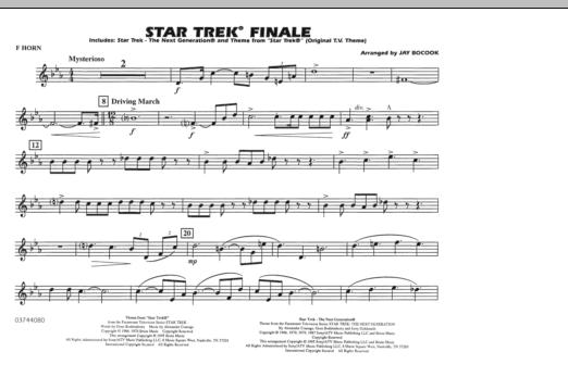 Star Trek Finale - F Horn (Marching Band)