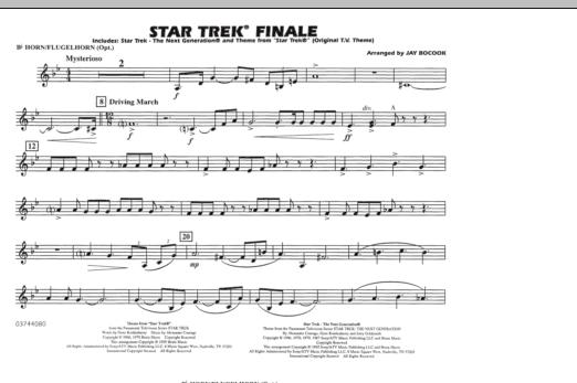 Star Trek Finale - Bb Horn/Flugelhorn (Marching Band)