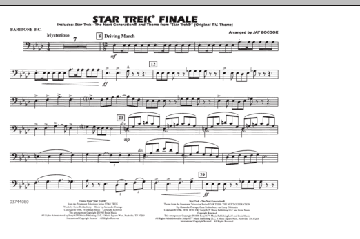 Star Trek Finale - Baritone B.C. (Marching Band)