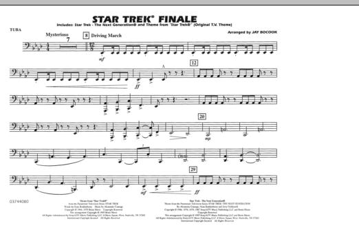 Star Trek Finale - Tuba (Marching Band)