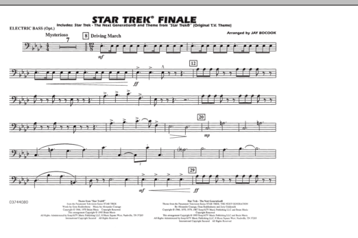 Star Trek Finale - Electric Bass (Marching Band)
