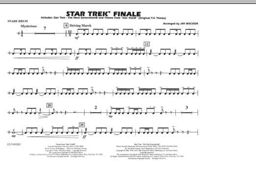 Star Trek Finale - Snare Drum (Marching Band)