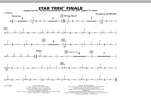 Star Trek Finale - Cymbals (Marching Band)