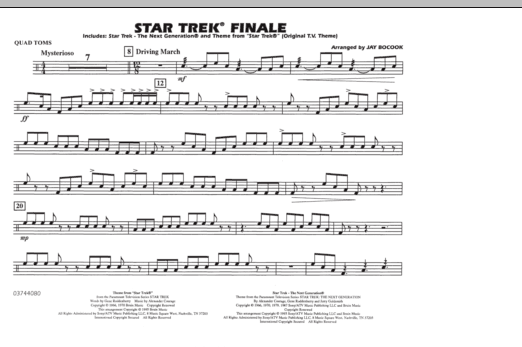 Star Trek Finale - Quad Toms (Marching Band)