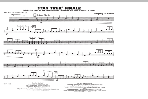 Star Trek Finale - Multiple Bass Drums (Marching Band)
