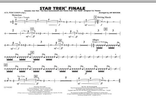 Star Trek Finale - Aux Percussion (Marching Band)
