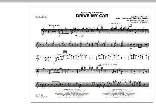 Drive My Car - Bb Clarinet (Marching Band)