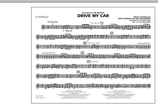 Drive My Car - Bb Tenor Sax (Marching Band)
