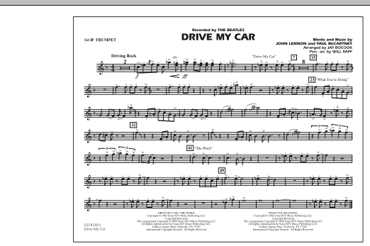 Drive My Car - 1st Bb Trumpet (Marching Band)