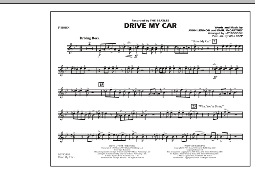 Drive My Car - F Horn (Marching Band)