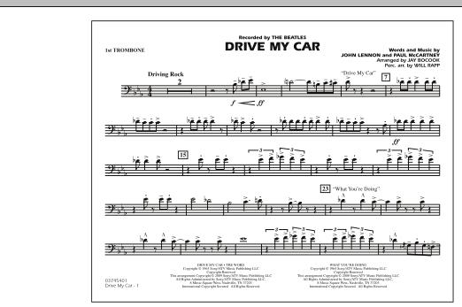 Drive My Car - 1st Trombone (Marching Band)