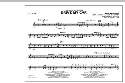 Drive My Car - Baritone T.C. (Marching Band)