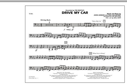 Drive My Car - Tuba (Marching Band)