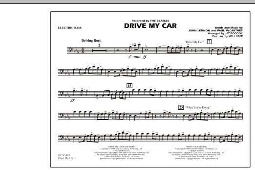 Drive My Car - Electric Bass (Marching Band)