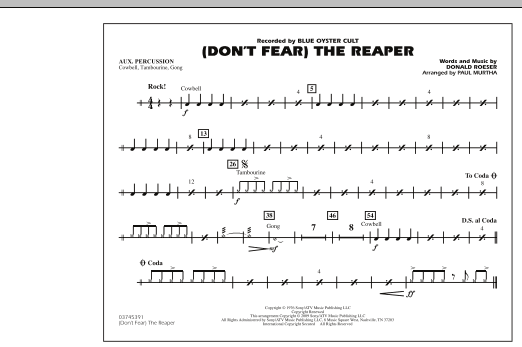 (Don't Fear) The Reaper - Aux Percussion (Marching Band)
