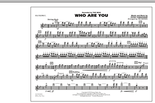 Who Are You - Flute/Piccolo (Marching Band)