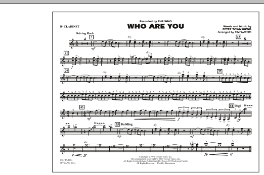 page one of Who Are You - Bb ClarinetASALTTEXT