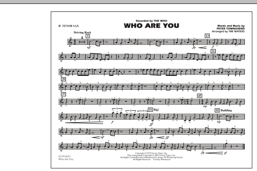 Who Are You - Bb Tenor Sax (Marching Band)