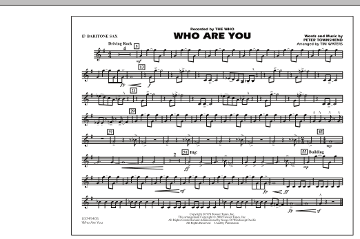 Who Are You - Eb Baritone Sax (Marching Band)