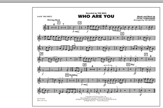 Who Are You - 3rd Bb Trumpet (Marching Band)