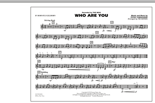 Who Are You - Bb Horn/Flugelhorn (Marching Band)