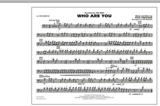 Who Are You - 1st Trombone (Marching Band)