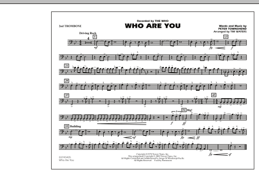 Who Are You - 2nd Trombone (Marching Band)