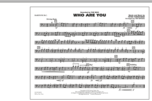 page one of Who Are You - Baritone B.C.ASALTTEXT