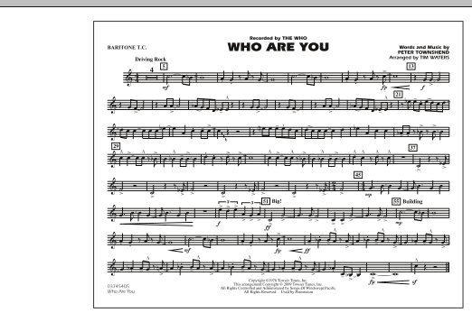 page one of Who Are You - Baritone T.C.ASALTTEXT
