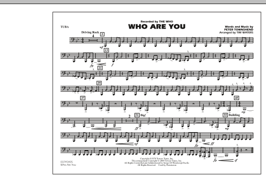 Who Are You - Tuba (Marching Band)