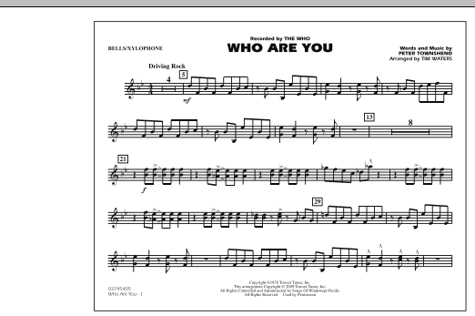 page one of Who Are You - Bells/XylophoneASALTTEXT
