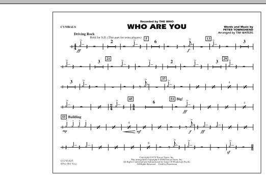 Who Are You - Cymbals (Marching Band)