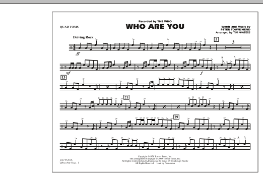 Who Are You - Quad Toms (Marching Band)